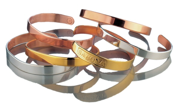 Sabona Copper & Magnetic bracelet silver brushed
