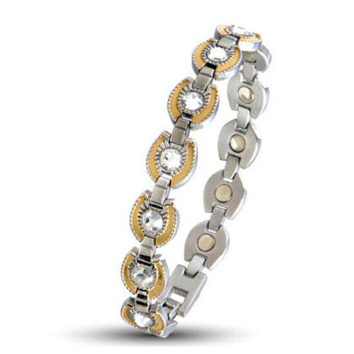 216 gem gold horseshoe magnetic bracelet. Black Bedroom Furniture Sets. Home Design Ideas