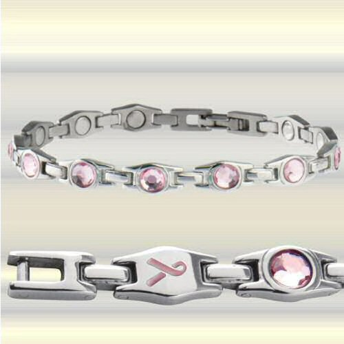 310 executive pink ribbon magnetic bracelet. Black Bedroom Furniture Sets. Home Design Ideas
