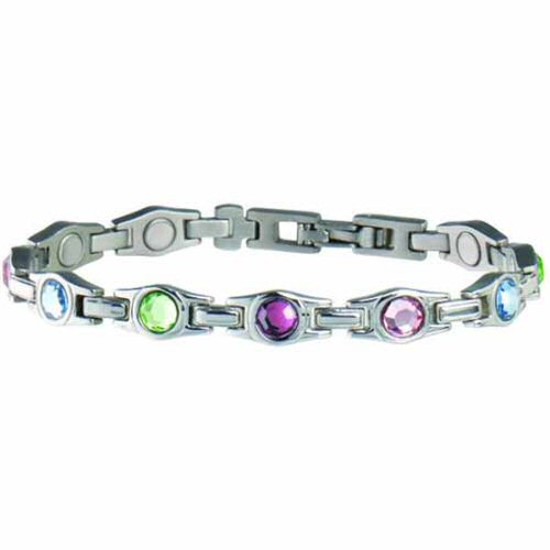 312 executive multicolor gem magnetic bracelet. Black Bedroom Furniture Sets. Home Design Ideas